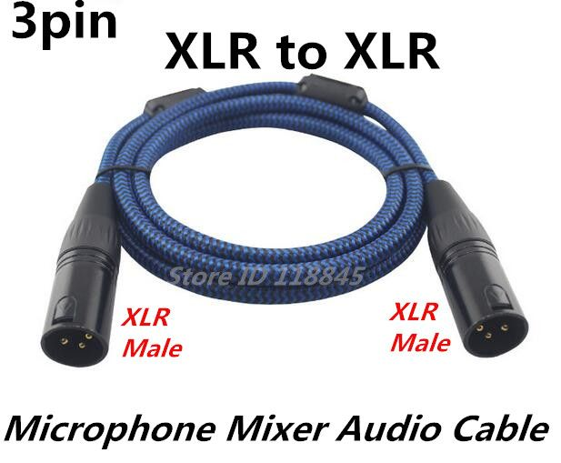 sale 1m 2m 3m 5m 8m 3pin xlr to xlr male braided shielded mic audio