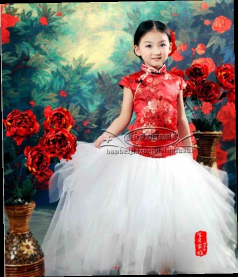 46.00$  Buy now - http://alikln.worldwells.pw/go.php?t=32745918901 - 2016 Soft New children Costume Photography Props peony dress child Girl 7~9 years old princess performance wear Free shipping 46.00$