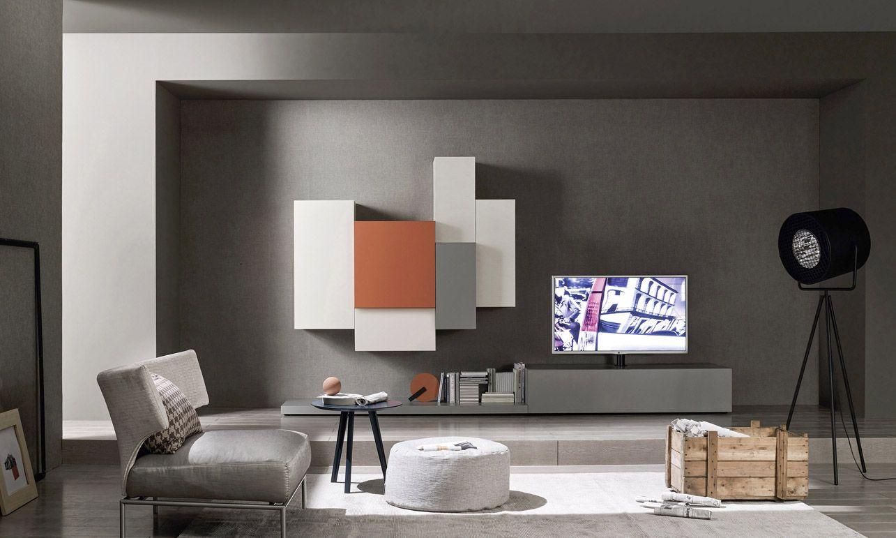 Die Livitalia Wohnwand C49 überzeugt durch ein besonderes Design und ...