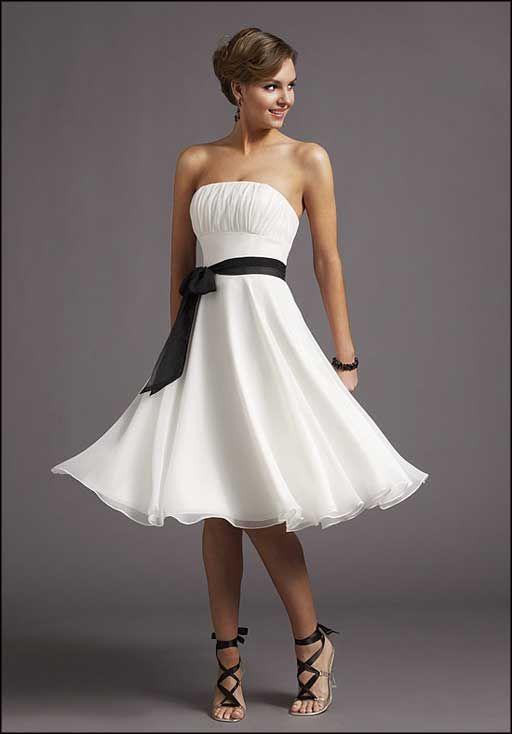 Short white casual wedding dress
