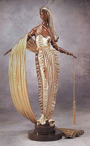 Erte (Romain de Tirtoff) - American Millionairess Bronze Sculpture
