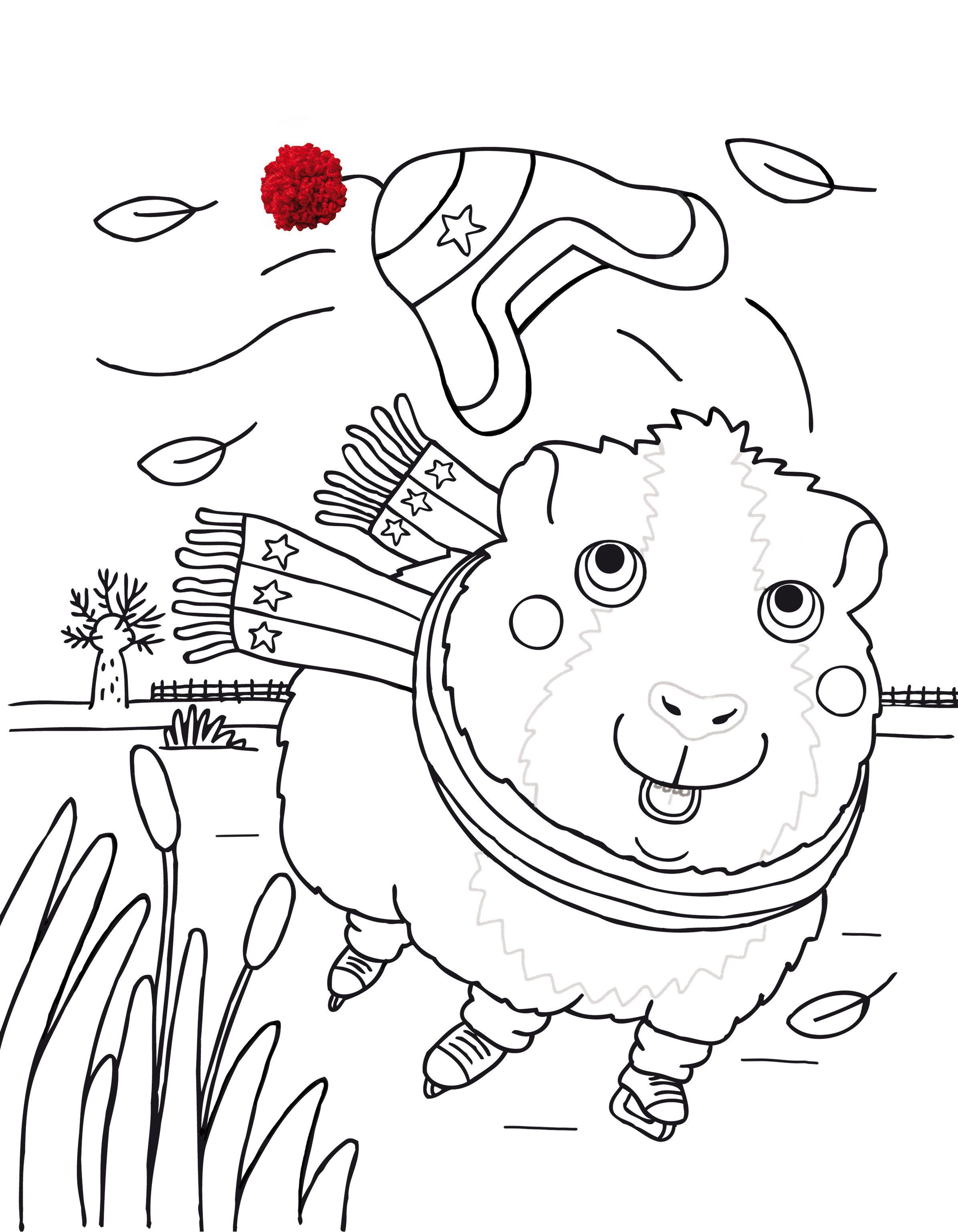 Kleurplaten Maan Roos Vis.Kleurplaat Schaatsen Tijdschrift Maan Roos Vis Illustratie Door