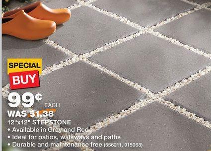 home depot 12x12 gray pavers withwhite