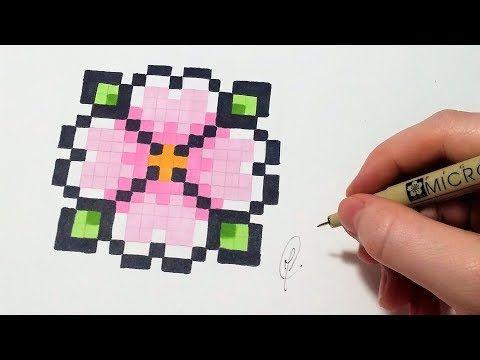 Pixel Art Fleur Facile Youtube Matte Tegninger