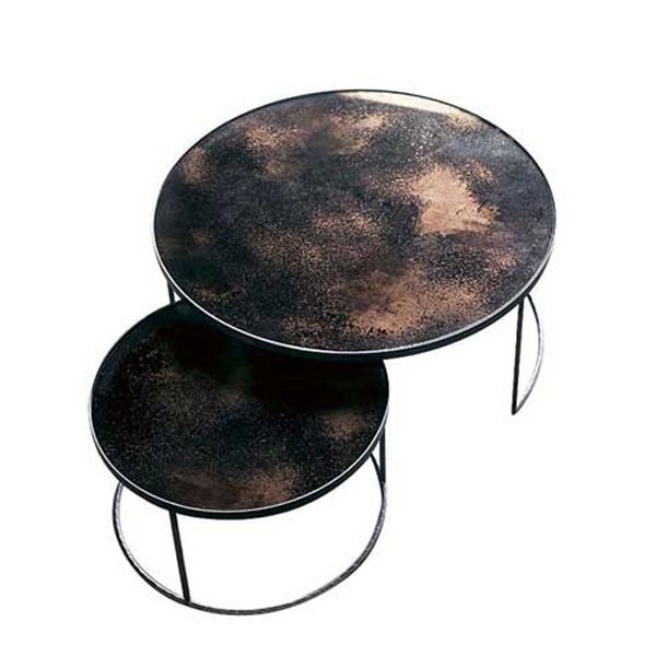 Bronze Nesting Coffee Table Set By Notre Monde On Ecc Haus Table