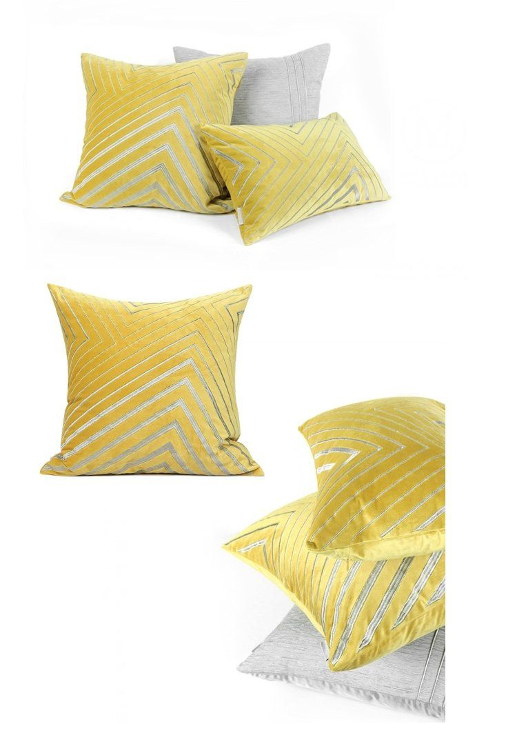 Throw Pillow Sets Yellow Simple Style Modern Throw Pillow Pillow Cover With Insert Large Sofa Pillows Large Sofa Pillows Bedroom Pillows Modern Throw Pillows