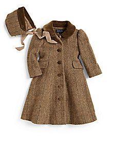 Ralph Lauren - Infant's Tweed Princess Coat & Bonnet
