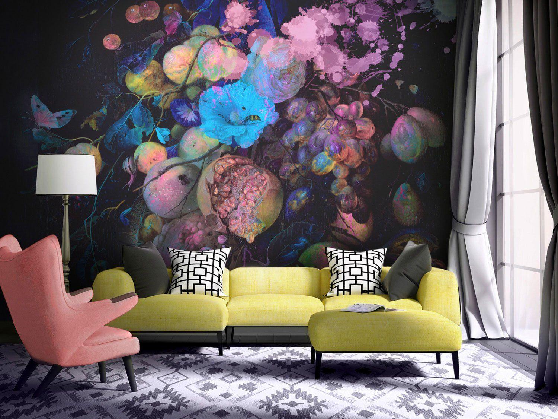 Fluro Floral / Design   Wall design, Accent walls in ...