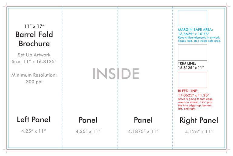 11 X 17 Barrel Fold Brochure Template U S Press Throughout Brochure 4 Fold Template Brochure Template Brochure Folds Custom Brochures