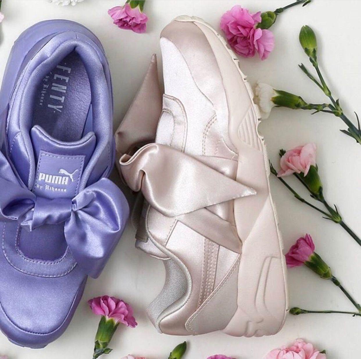 chaussure puma fille avec noeud