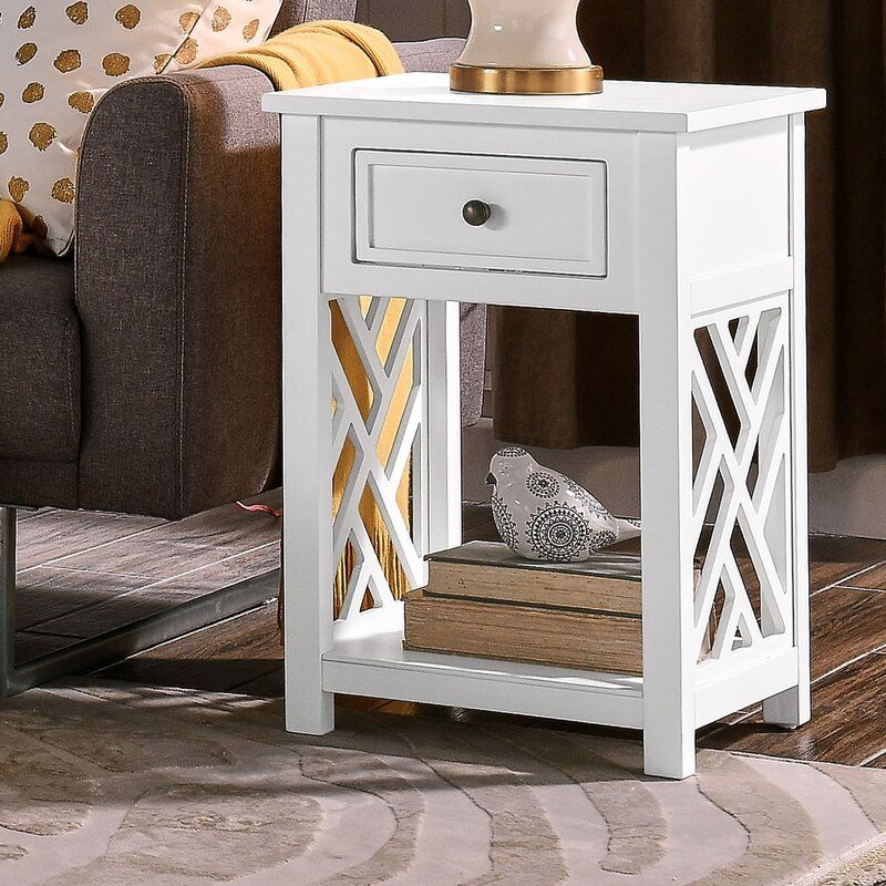 Lund End Table With Storage In 2021 End Tables With Drawers Wood End Tables End Tables With Storage Wood end table with storage