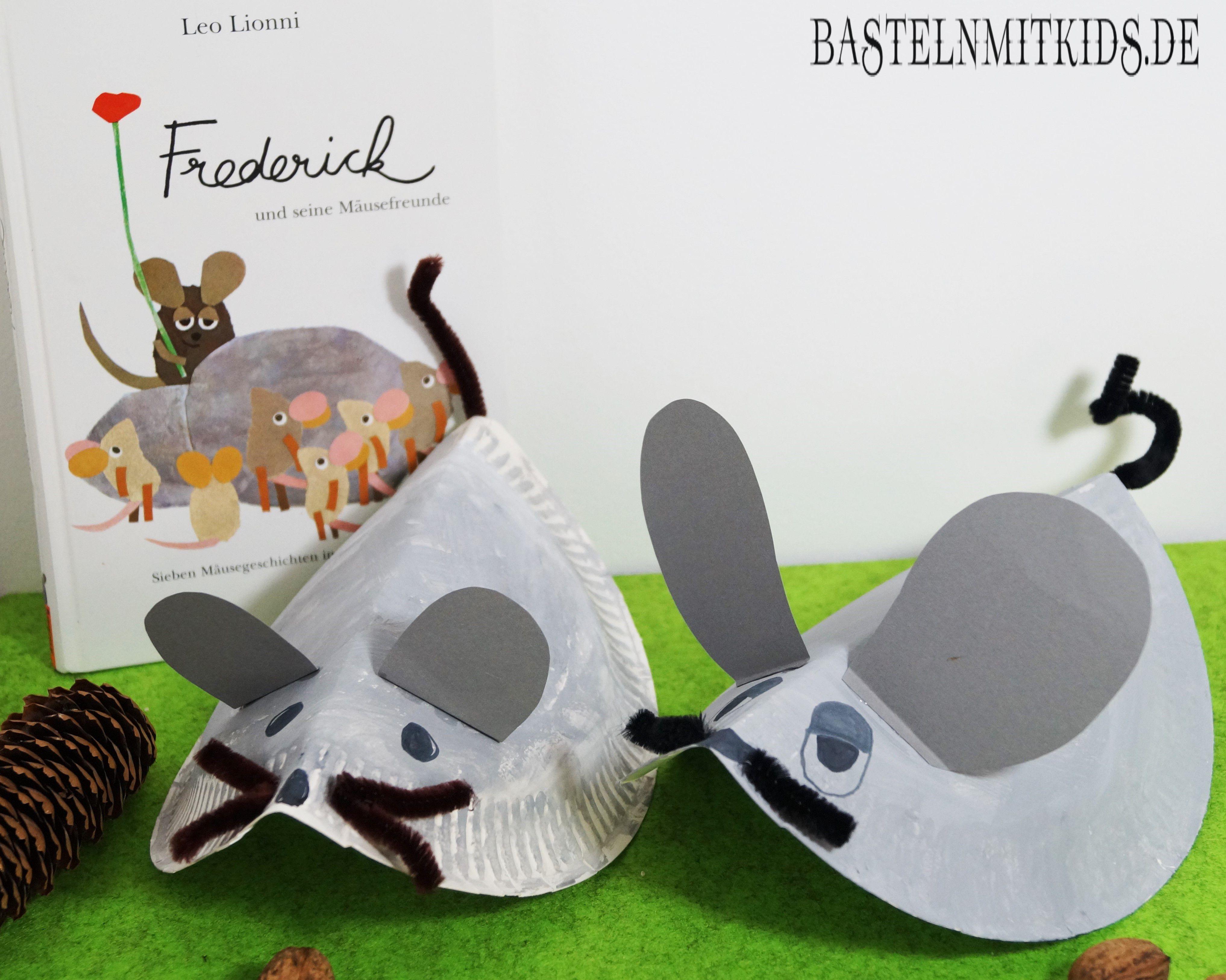 Eine Maus Basteln Mit Papiertellern Basteln Mit Kindern