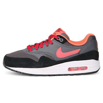 uk availability fe622 398f3 Nike Air Max 1 Gs Big Kids 555766-044 Grey Hot Lava Running Shoes Youth  Size 7