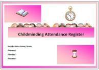 Childminding Attendance Register Www Childminding Treasures Com