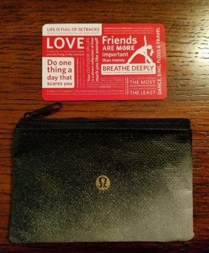 Coupons #GiftCards $74.35 LULULEMON GIFT CARD ZIP POUCH INCLUDED ...