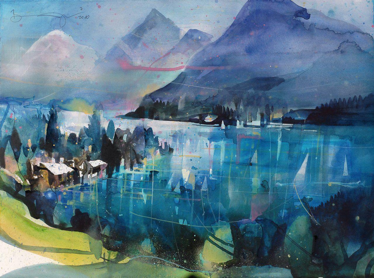 Bernhard Vogel Art Paysage Aquarelle Et Paysage