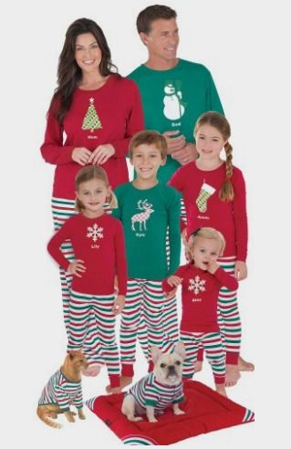 PajamaGram Red and Green Holiday Stripe Matching Family Pajama Set at  Amazon http    b9dc76efe