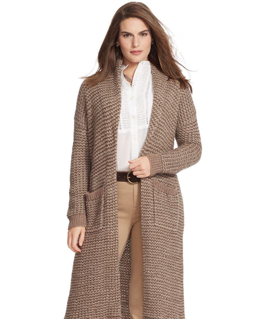 Lauren Ralph Lauren Plus Size Shawl Cardigan | dış kıyafetlet ...