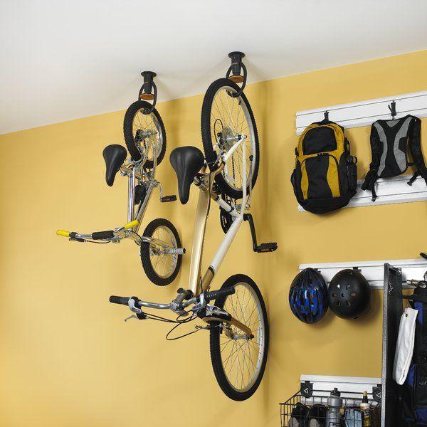 Gacexxcpvk Advanced Claw Ceiling Mounted Bike Rack Bike Storage Garage Bike Rack Garage Workshop Organization