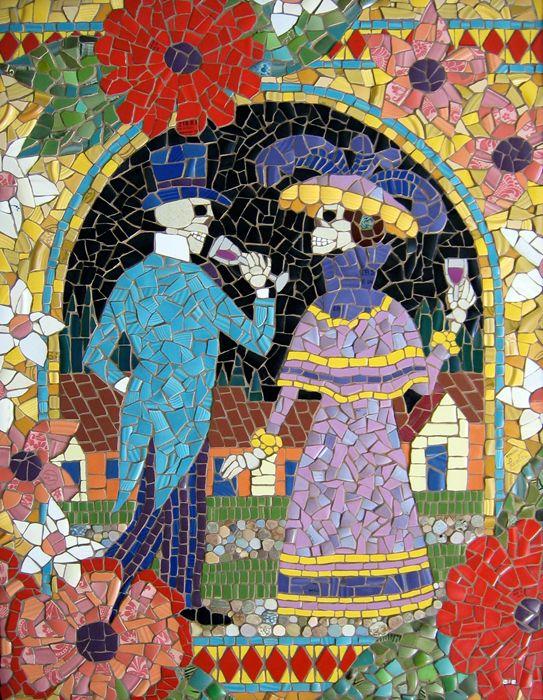 Michael Sweere Plaza La Noche Broken Coffee Cups Plates Gl And Ceramic Tile Mosaic