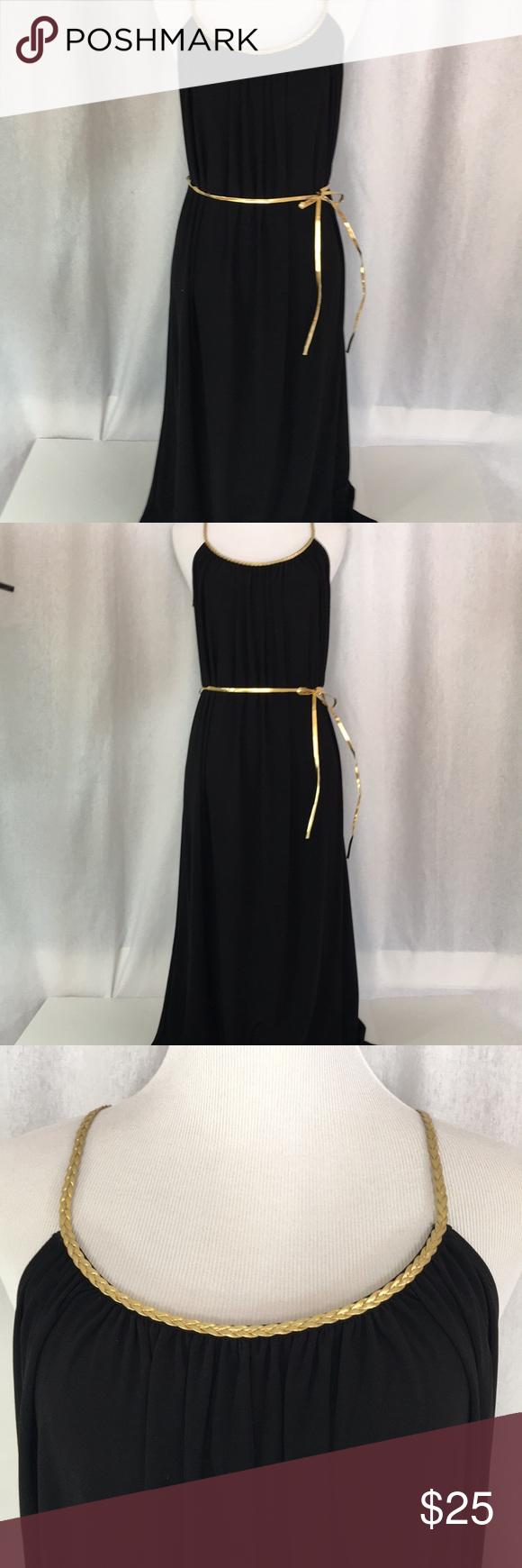 Black Maxi Dress With Gold Trim Black Maxi Dress Black Maxi Maxi Dress