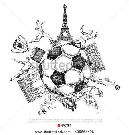 Drawing Of Soccer Background Line Only Version Poster Brochure Illustration Eps10 Soccer Drawing Soccer Poster Drawings