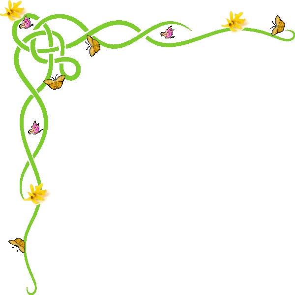 rose border clip art border yellow clip art vector clip art rh pinterest co uk spring flowers border clipart free spring border clipart black and white