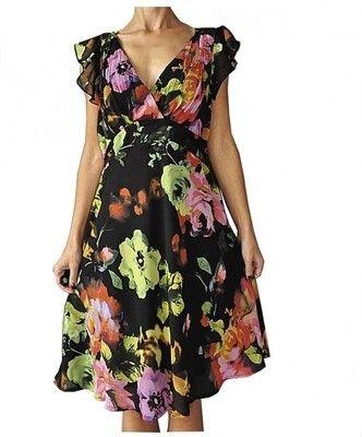 George Elegancka Sukienka Kwiaty 46 6540041053 Oficjalne Archiwum Allegro Fashion Dresses Short Sleeve Dresses