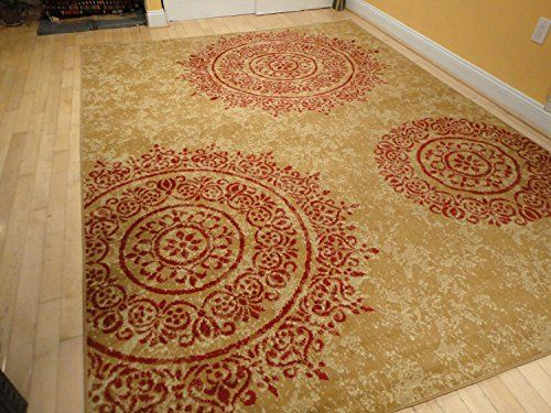 Contemporary Rugs Large 8x11 Modern Rugs For Living Room Red Beige