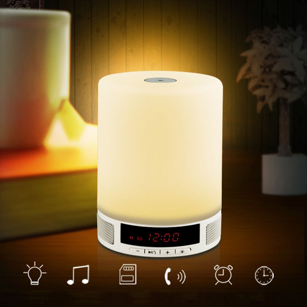 A Combination Of Music Sound Box Alarm Clock Led Table Lamp I Am Sure This Amazing Wireless Speakers Bluetooth Bluetooth Speakers Portable Bluetooth