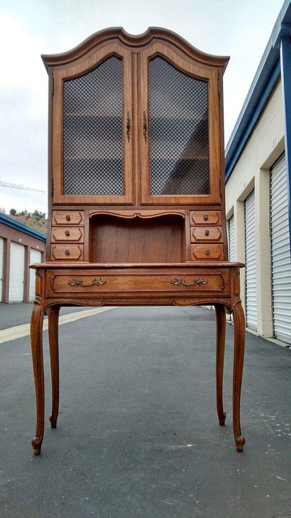 Vintage French provincial secretary desk by ProvincialButFrench - Vintage French Provincial Secretary Desk By ProvincialButFrench