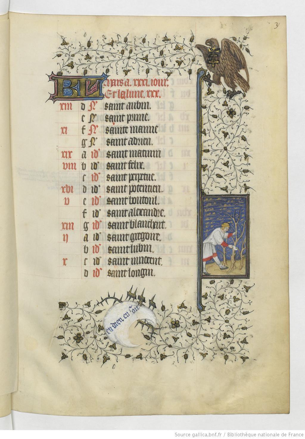 Horae ad usum Parisiensem [Heures de René d'Anjou, roi de Sicile (1434-1480)]