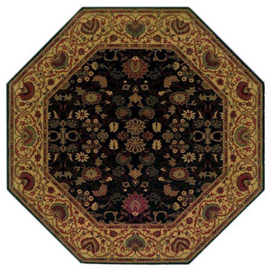 Couristan Everest Tabriz Midnight Octagon Rug 3773 4876x Area Rugs Traditional Area Rugs Octagon Area Rugs