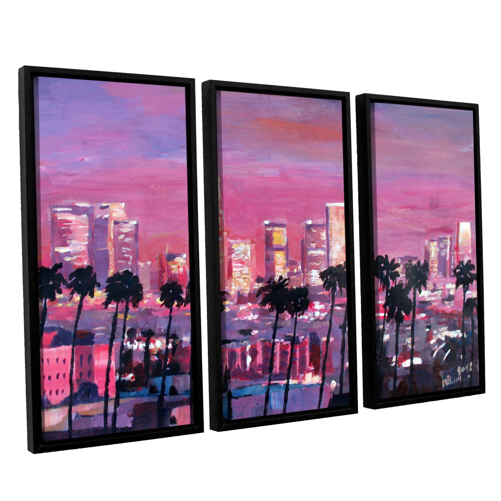 Los Angeles Golden Skyline by Marcus/Martina Bleichner 3 Piece ...