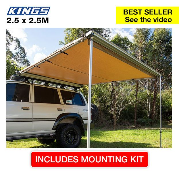 Adventure Kings 4wd Side Awning 2 5x2 5m 149 00 Great Value Hard To Be Beaten On Price Really 4wding Accessorie Waterproof Awnings Tent Awning Awning