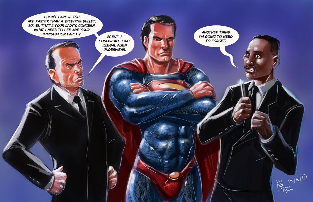 порно черный супермен спас