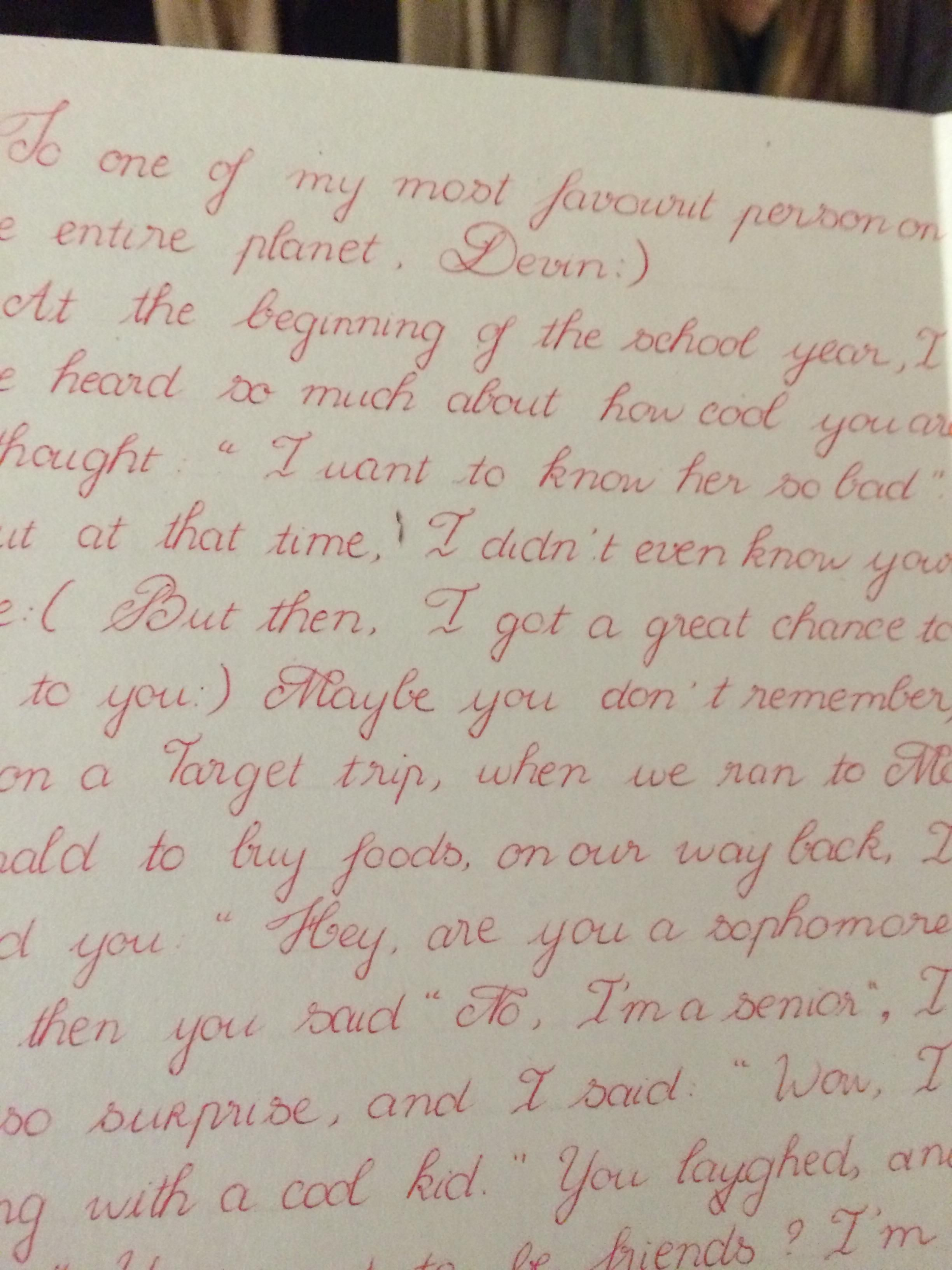 This Is Some Of The Most Beautiful Handwriting Ive Ever Seen Girl At My School Writes Like For Everything Too