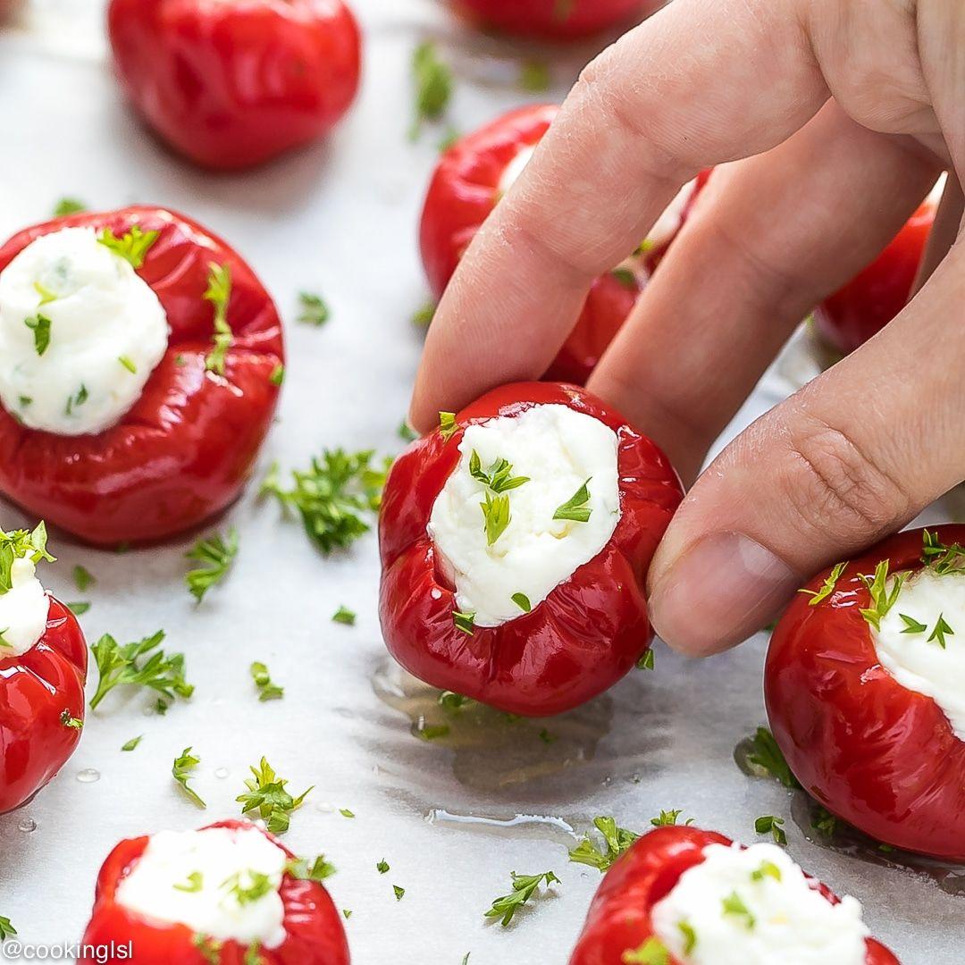 Stuffed Cherry Peppers Appetizer Recipe Cherry Pepper Recipes Stuffed Peppers Recipes