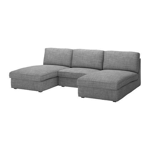 KIVIK 2 chaises and 1-seat section, Isunda gray Isunda gray