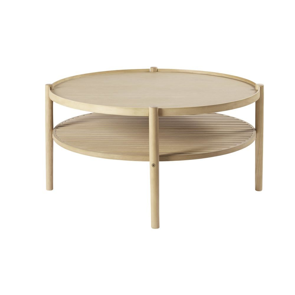 Round Coffee Table With Two Surfaces Round Coffee Table Dining Room Bench Seating Hallway Furniture