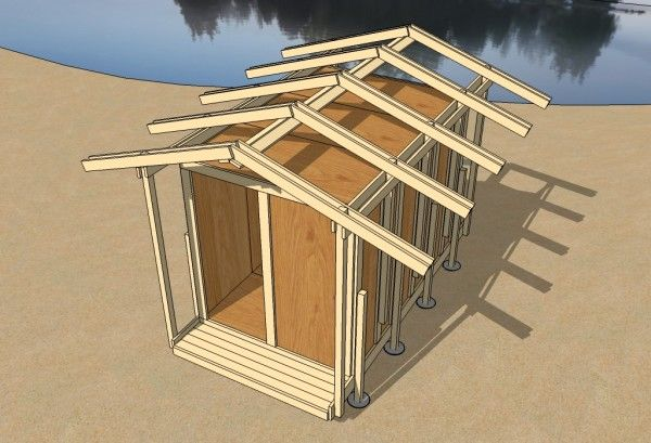 Uncut Tiny House - Step 09 - Roof Rafters, NO cut off the shelf ...