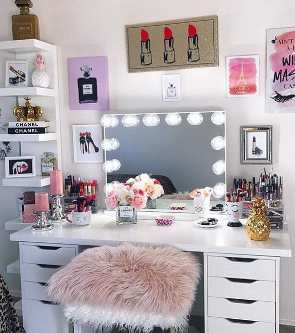 Storage tips for small rooms  Vanity room decor, Beauty room