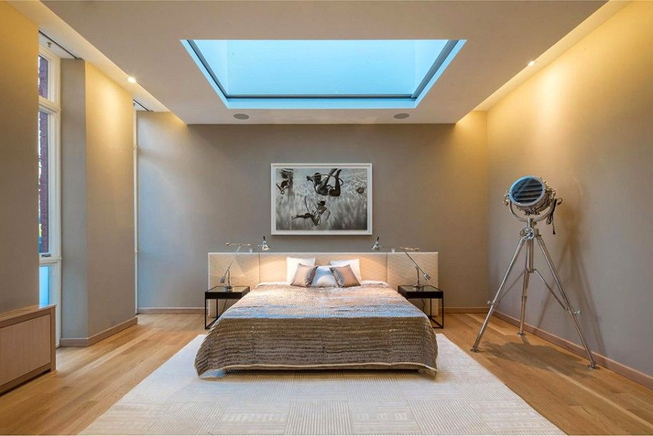opulent design retractable roof. Beautiful Opulent Penthouse Design with Panoramic View  Minimalist Bedroom Setting With Open Ceiling For Stargazing