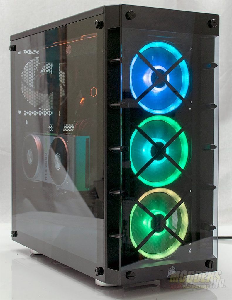 Corsair Icue 465x Rgb Mid Tower Case Review In 2020 Glass Panels Locker Storage Case