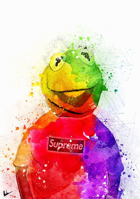 Supreme x Kermit The Frog Iconic Poster
