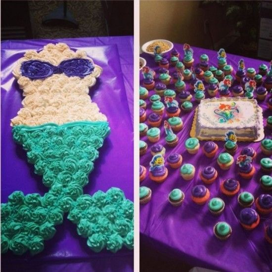 Choc Banana PB Bites Birthdays Cake and Mermaid cakes
