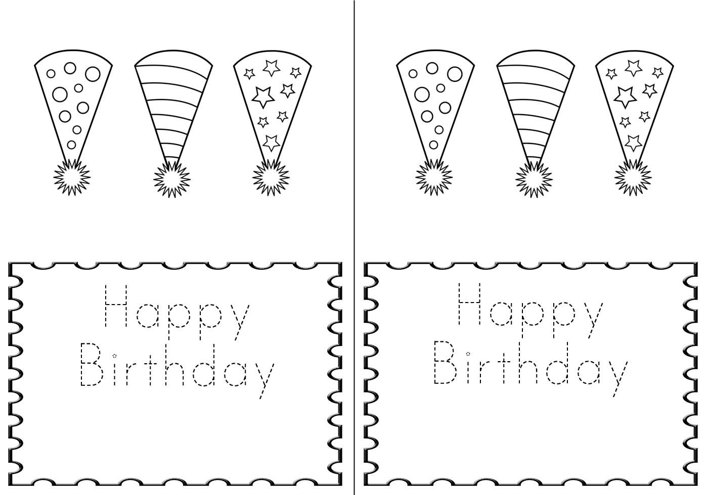 M Double M A Birthday Card For The Kiddos Printable Greeting Card Template Free Greeting Card Templates Birthday Card Template Free