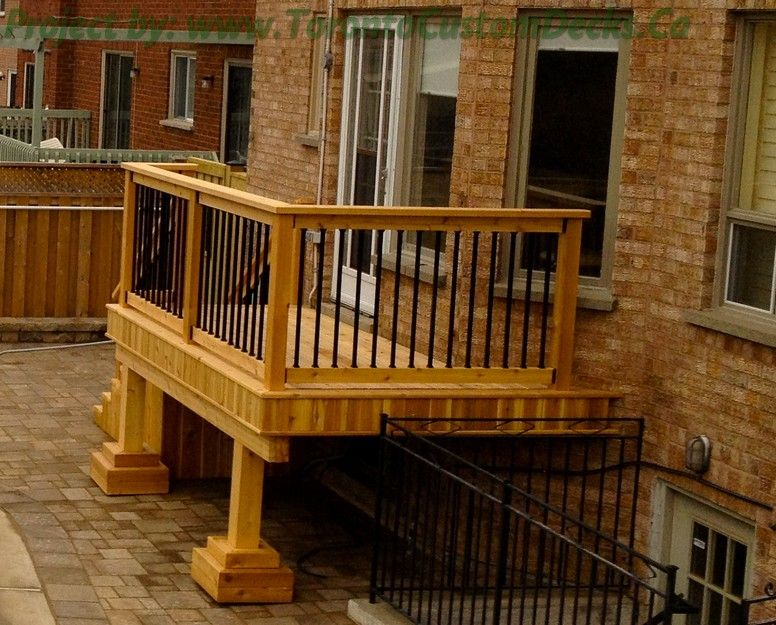 Wood Balcony Railings Gallery Of A Small Cedar Deck With