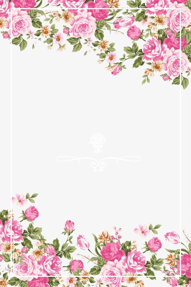 Pink Roses Border Pink Hand Painted Rose Png Transparent Clipart Image And Psd File For Free Download Flower Frame Floral Wallpaper Flower Border