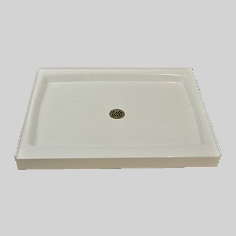 48x34 Double Threshold Shower Base In U 00 Ultra White In 2020